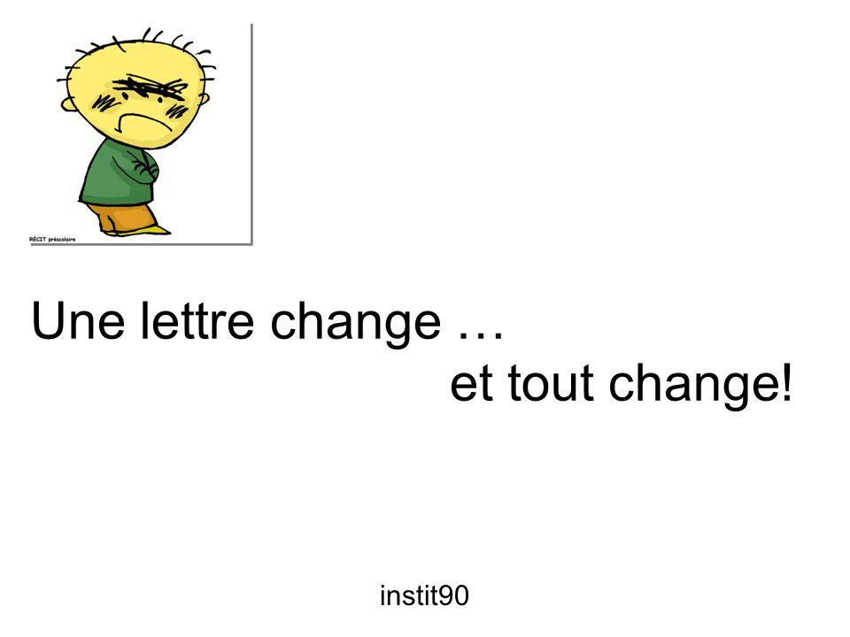 Une lettre change … et tout change!