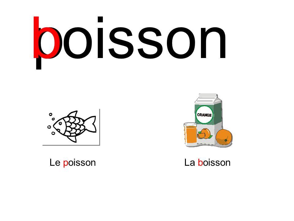 b p oisson Le poisson La boisson