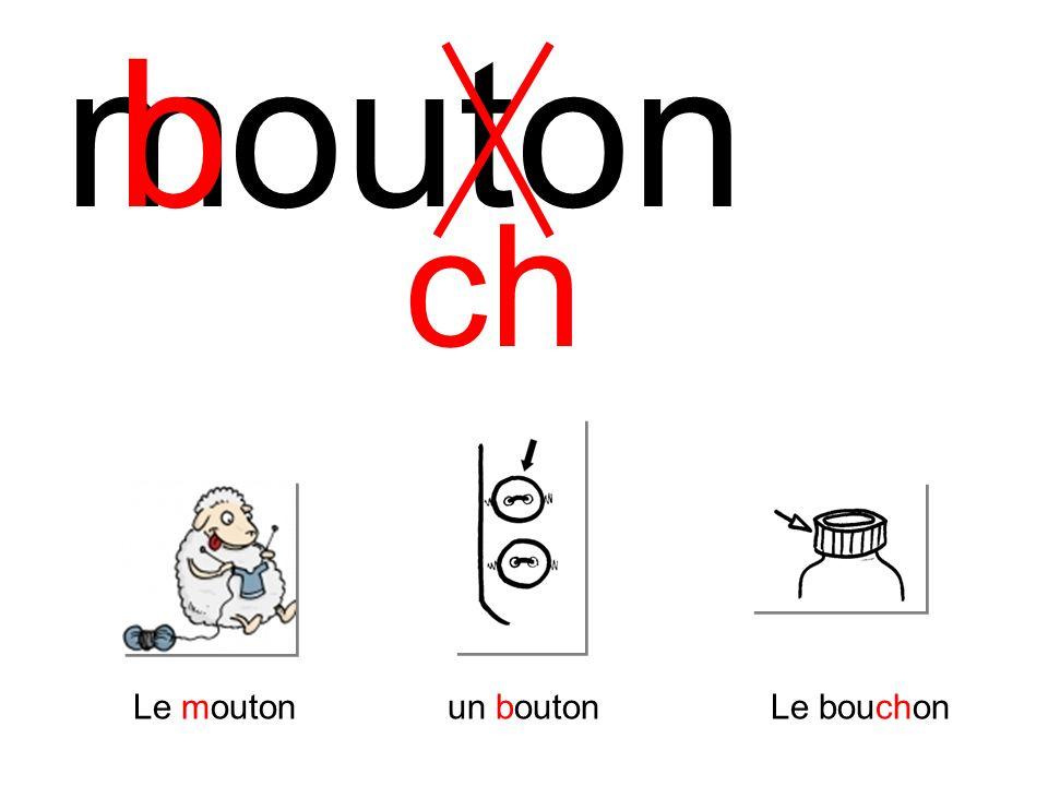 m b outon ch Le mouton un bouton Le bouchon