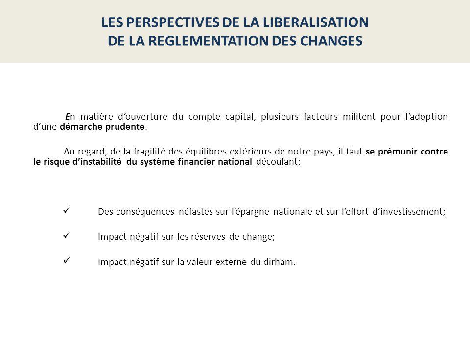 LES PERSPECTIVES DE LA LIBERALISATION DE LA REGLEMENTATION DES CHANGES