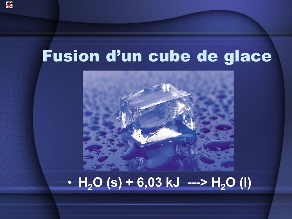 Fusion d'un cube de glace
