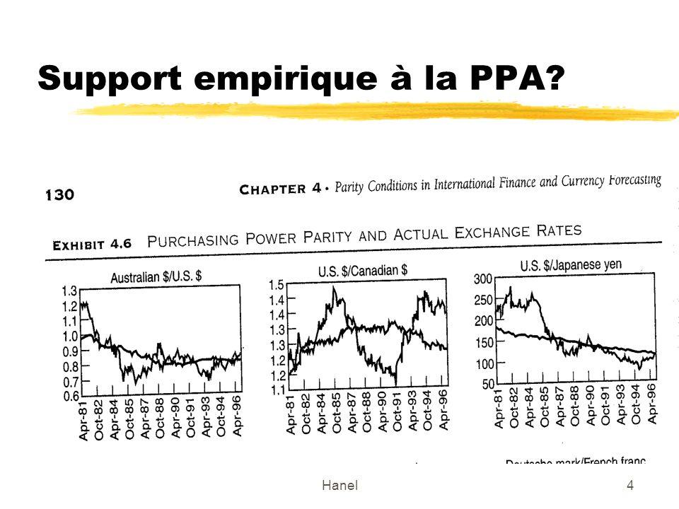 Support empirique à la PPA