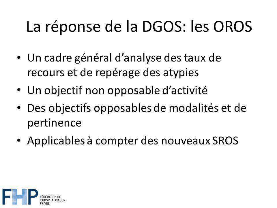 La réponse de la DGOS: les OROS