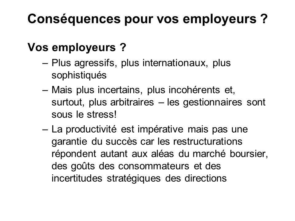 Conséquences pour vos employeurs