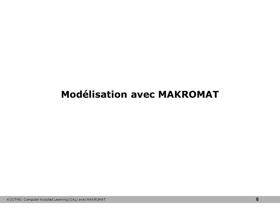 Modélisation avec MAKROMAT