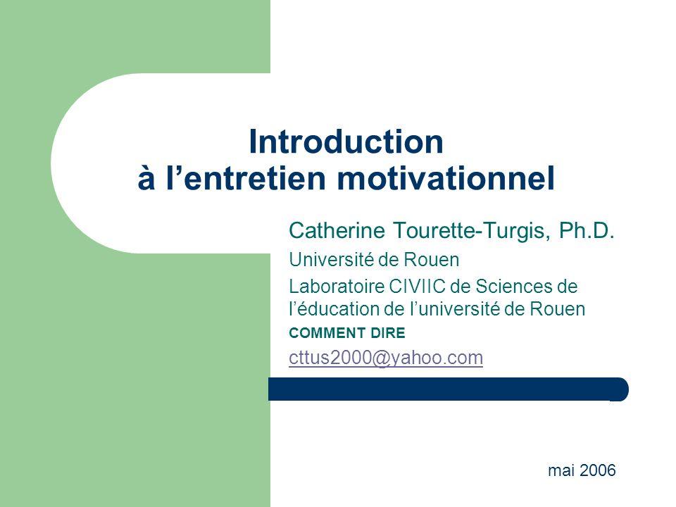 Introduction à l'entretien motivationnel