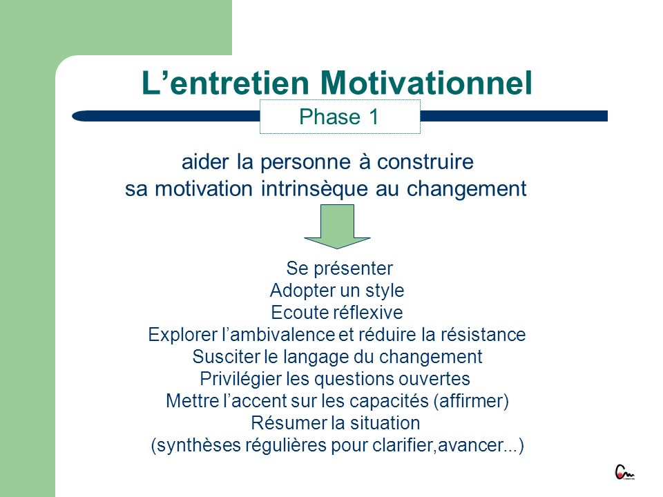 L'entretien Motivationnel