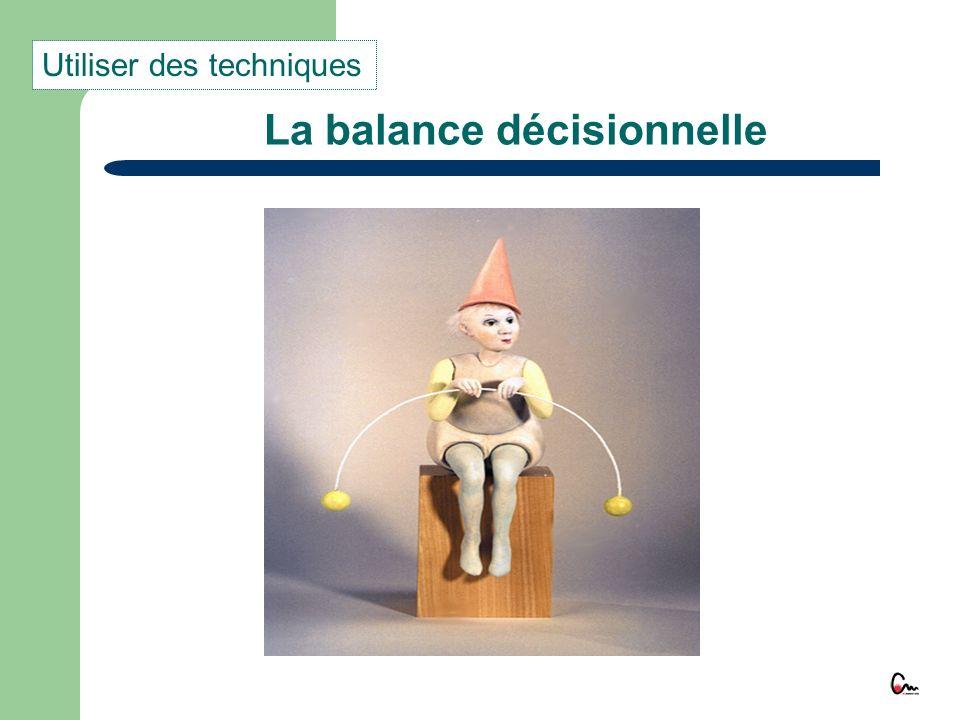 La balance décisionnelle