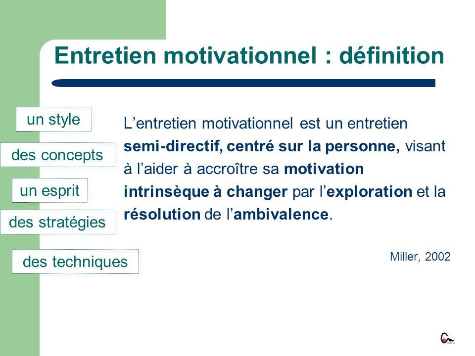 Entretien motivationnel : définition