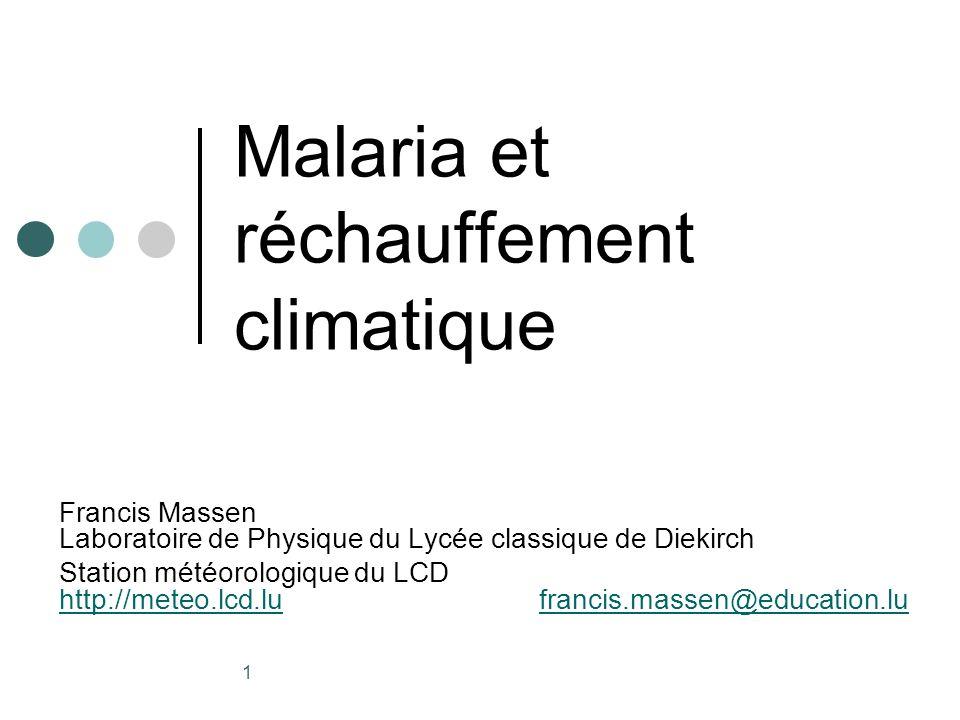 Malaria et réchauffement climatique