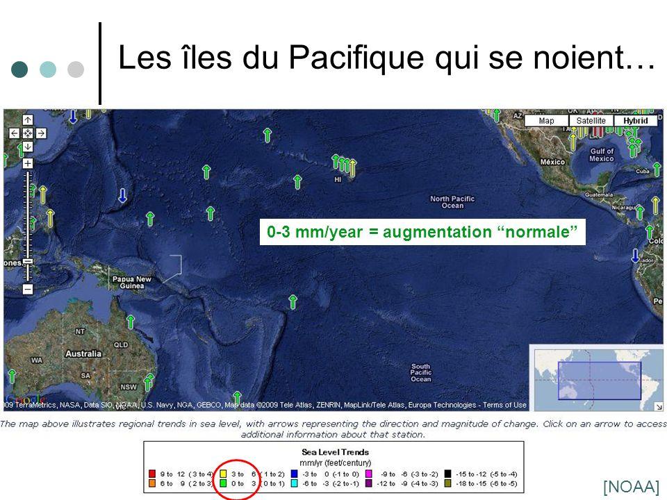 Les îles du Pacifique qui se noient…
