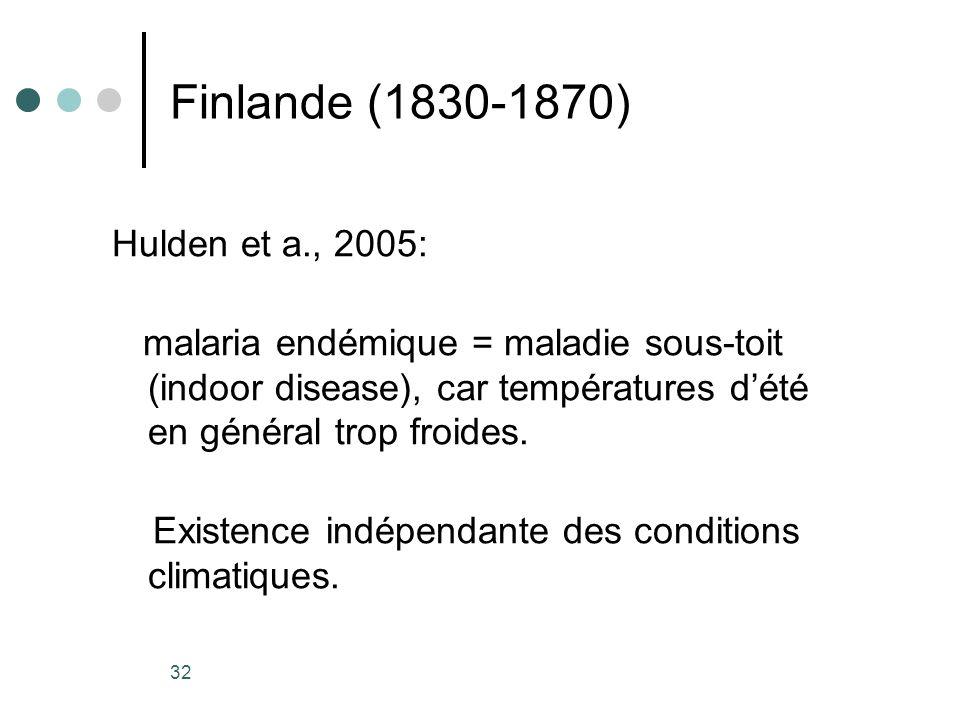 Finlande (1830-1870) Hulden et a., 2005: