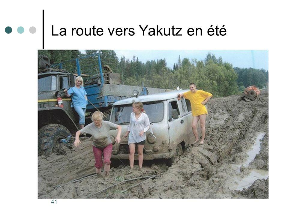 La route vers Yakutz en été