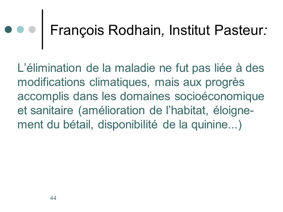 François Rodhain, Institut Pasteur: