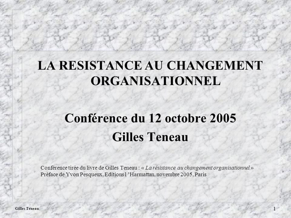 La résistance au changement organisationnel