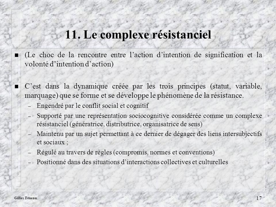 11. Le complexe résistanciel