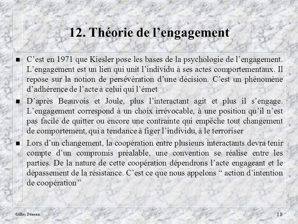 12. Théorie de l'engagement