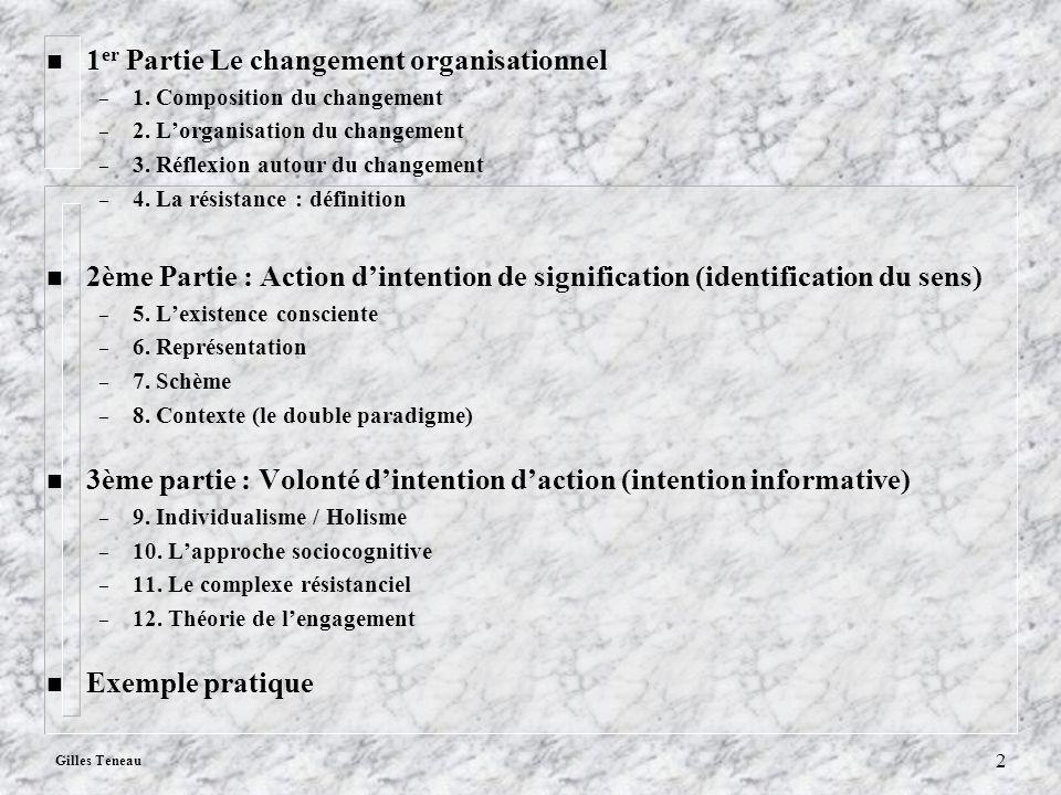 1er Partie Le changement organisationnel