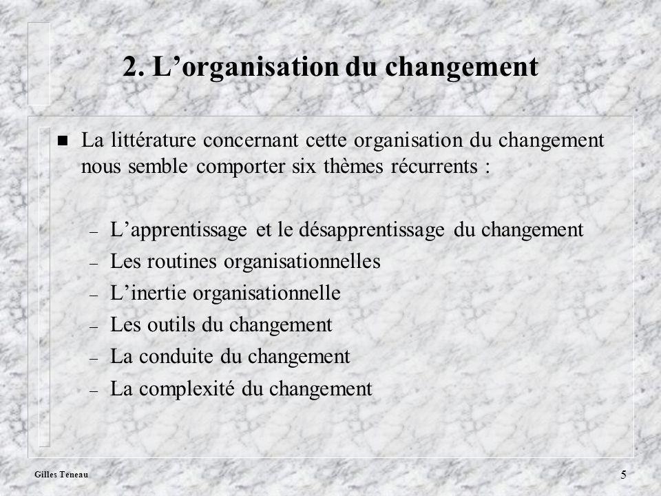 2. L'organisation du changement