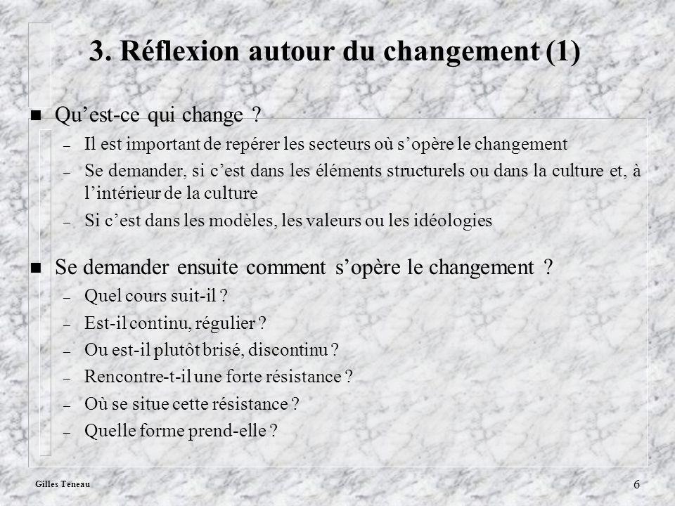 3. Réflexion autour du changement (1)