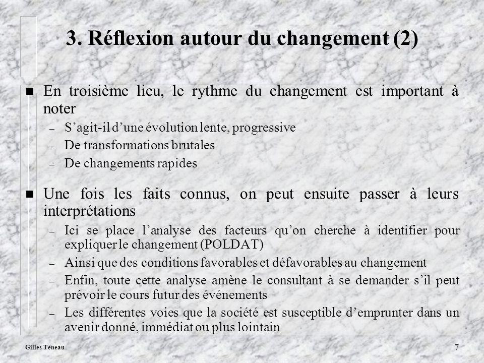 3. Réflexion autour du changement (2)