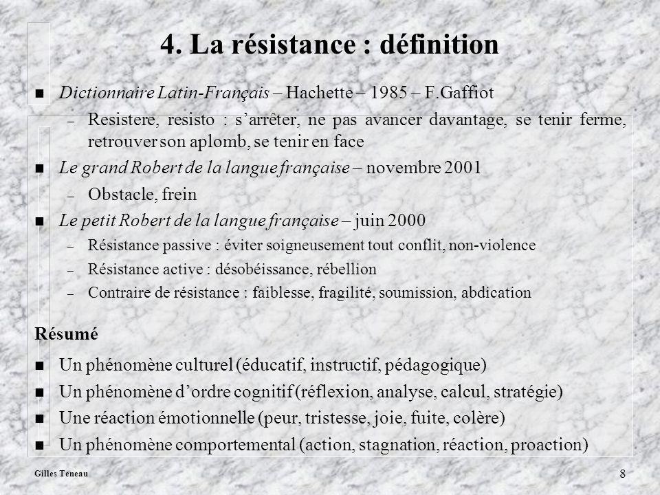 4. La résistance : définition