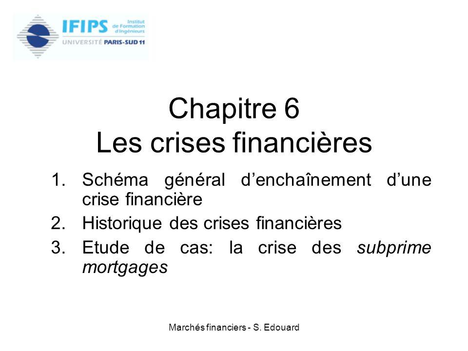 Chapitre 6 Les crises financières