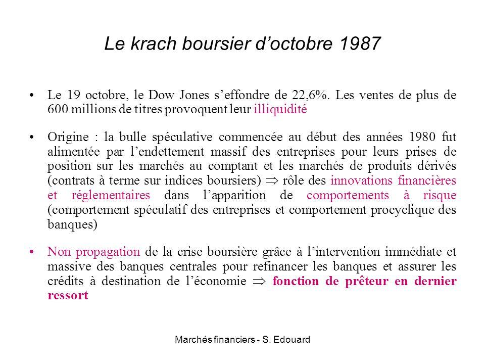 Le krach boursier d'octobre 1987