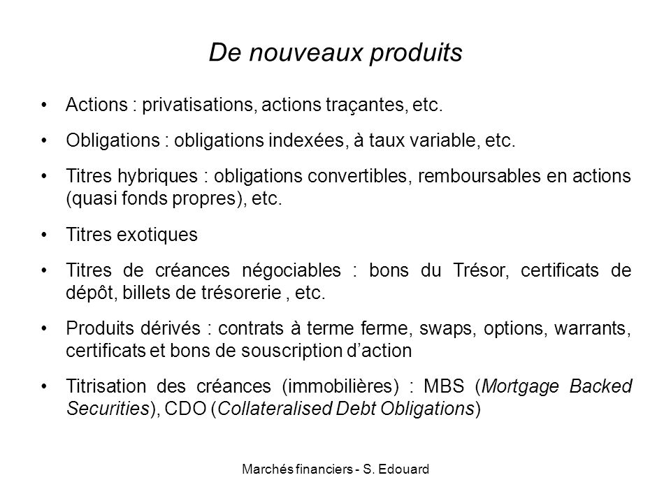 Bons de souscription d'actions et stock options