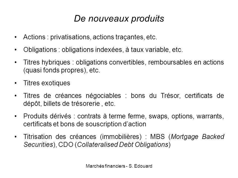 Marchés financiers - S. Edouard
