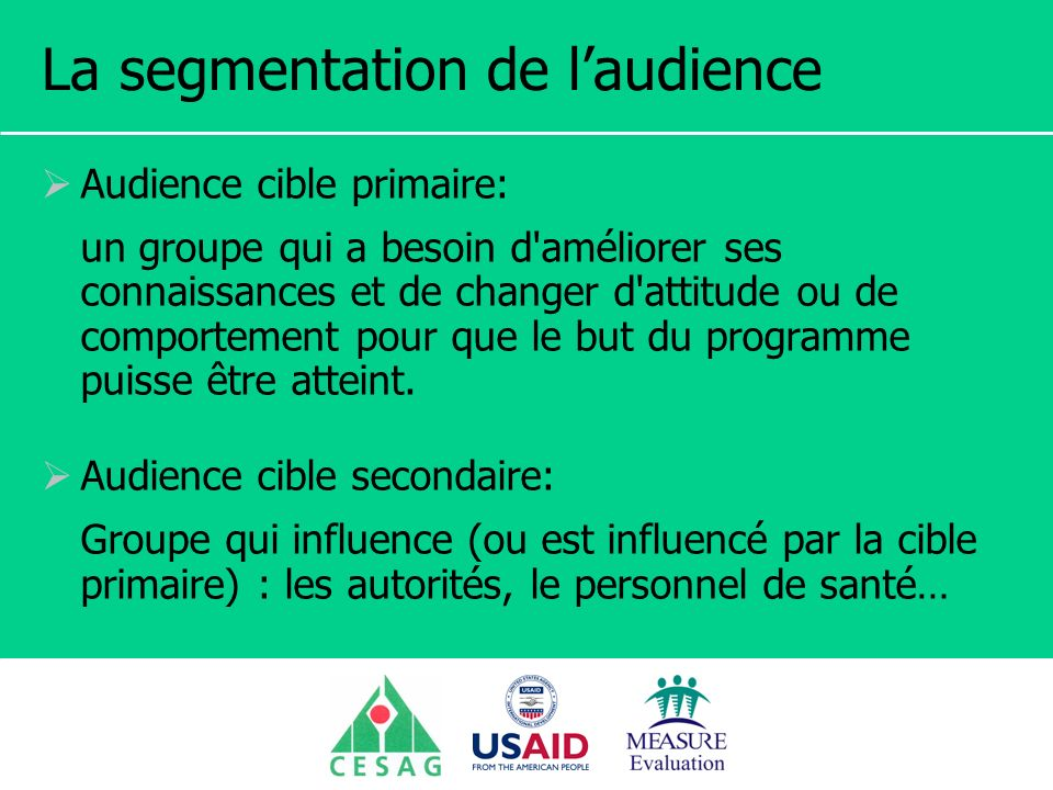 La segmentation de l'audience