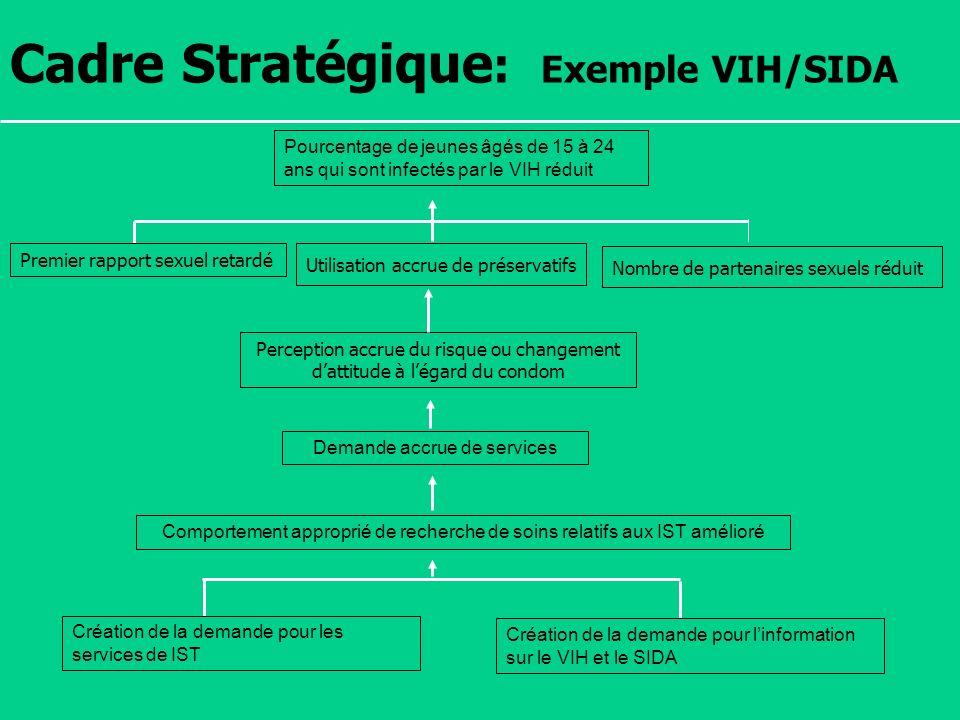 Cadre Stratégique: Exemple VIH/SIDA