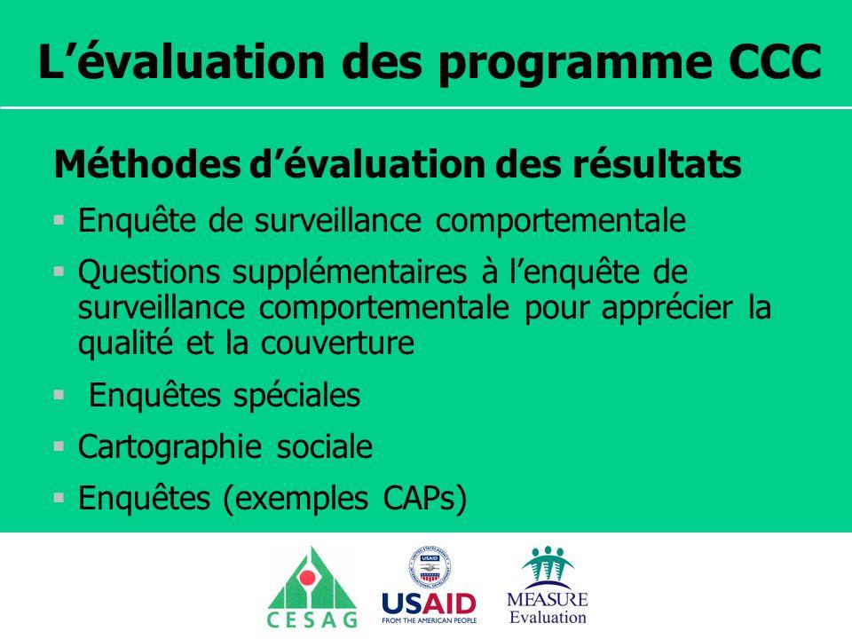 L'évaluation des programme CCC