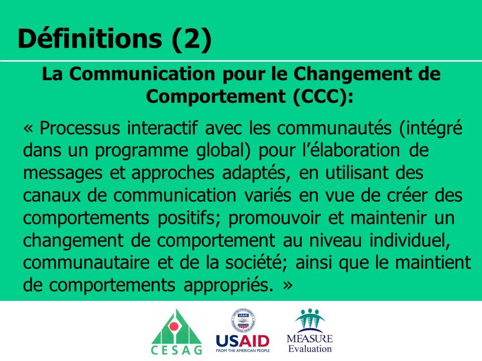 La Communication pour le Changement de Comportement (CCC):
