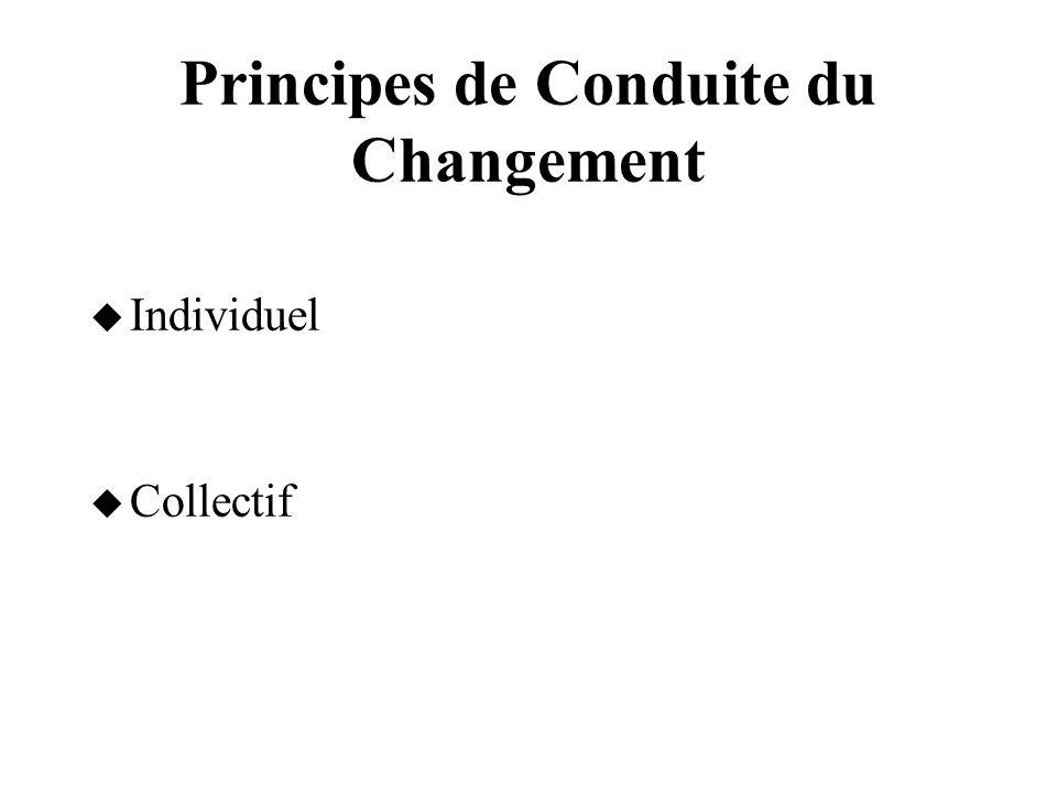 Principes de Conduite du Changement