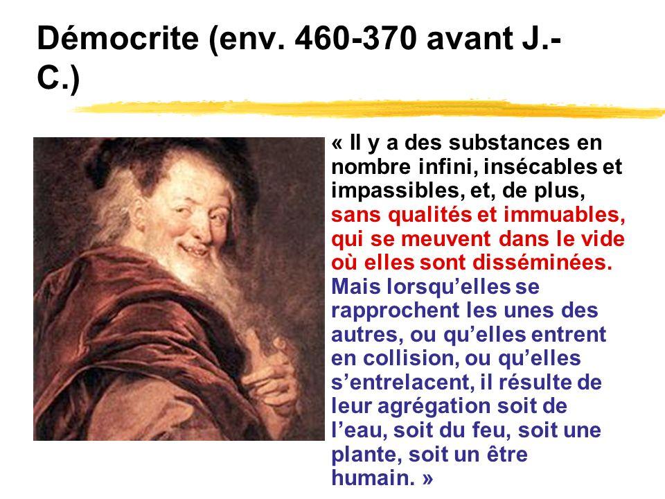 Démocrite (env. 460-370 avant J.-C.)