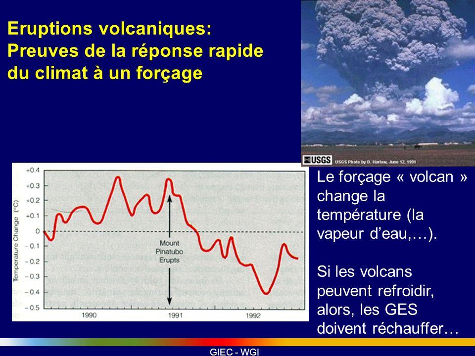 Eruptions volcaniques: Preuves de la réponse rapide