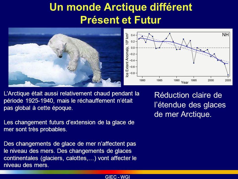 Un monde Arctique différent Présent et Futur