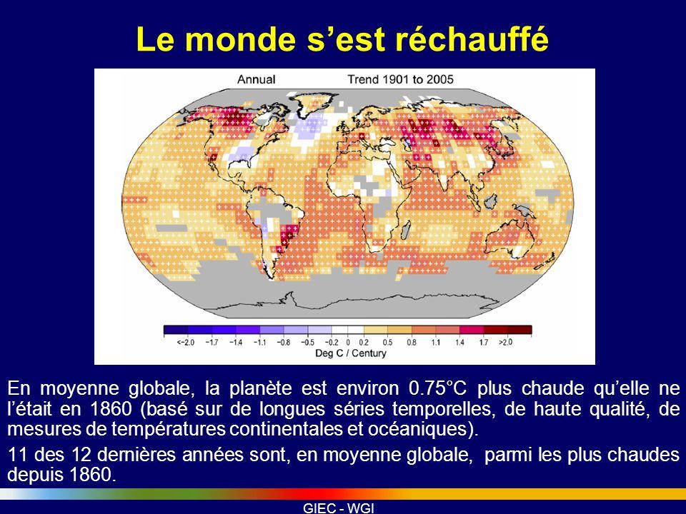 Le monde s'est réchauffé