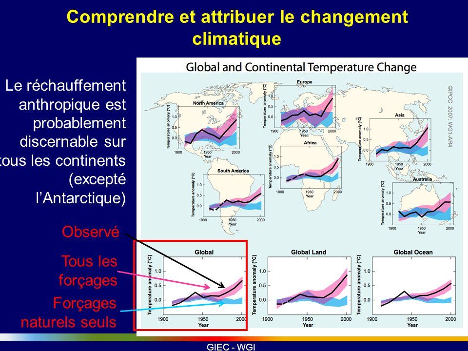Comprendre et attribuer le changement climatique