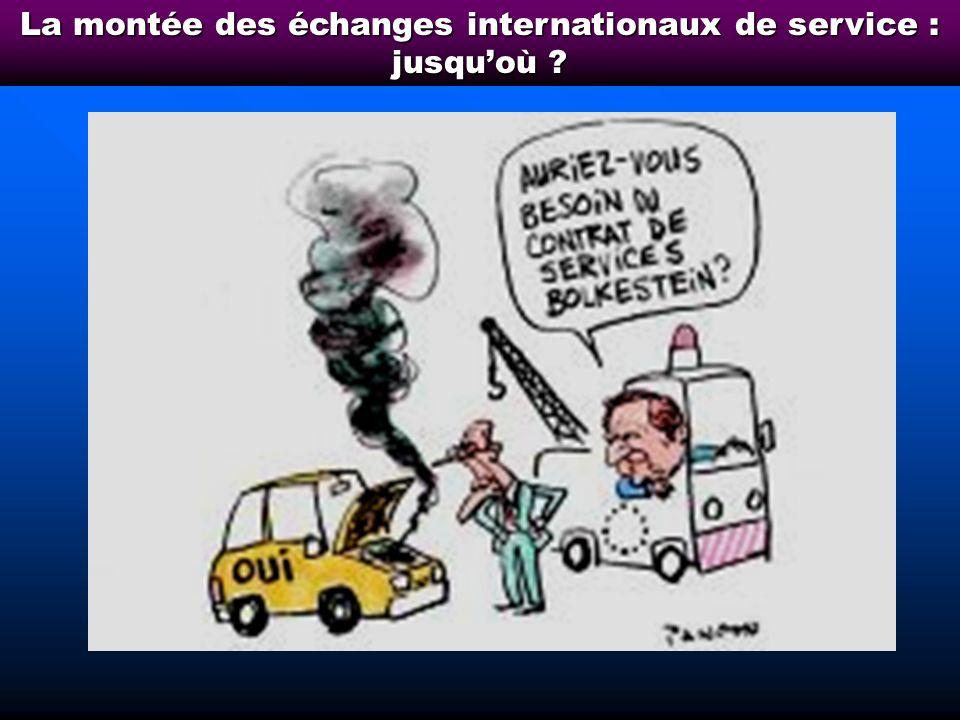 La montée des échanges internationaux de service : jusqu'où