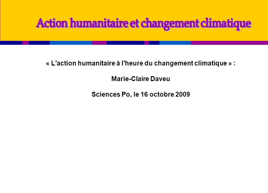 Action humanitaire et changement climatique