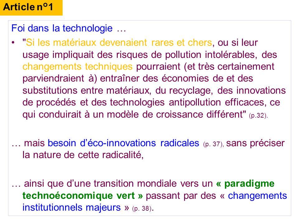 Article n°1 Foi dans la technologie …