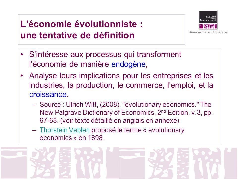 L'économie évolutionniste : une tentative de définition