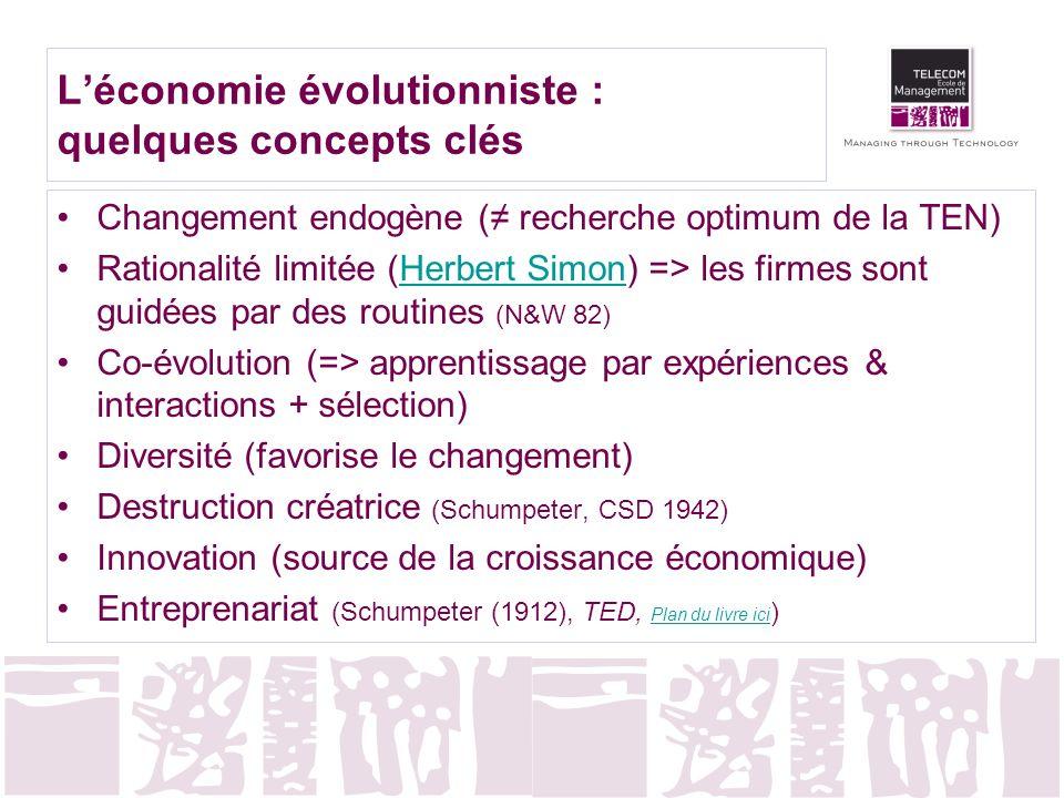 L'économie évolutionniste : quelques concepts clés
