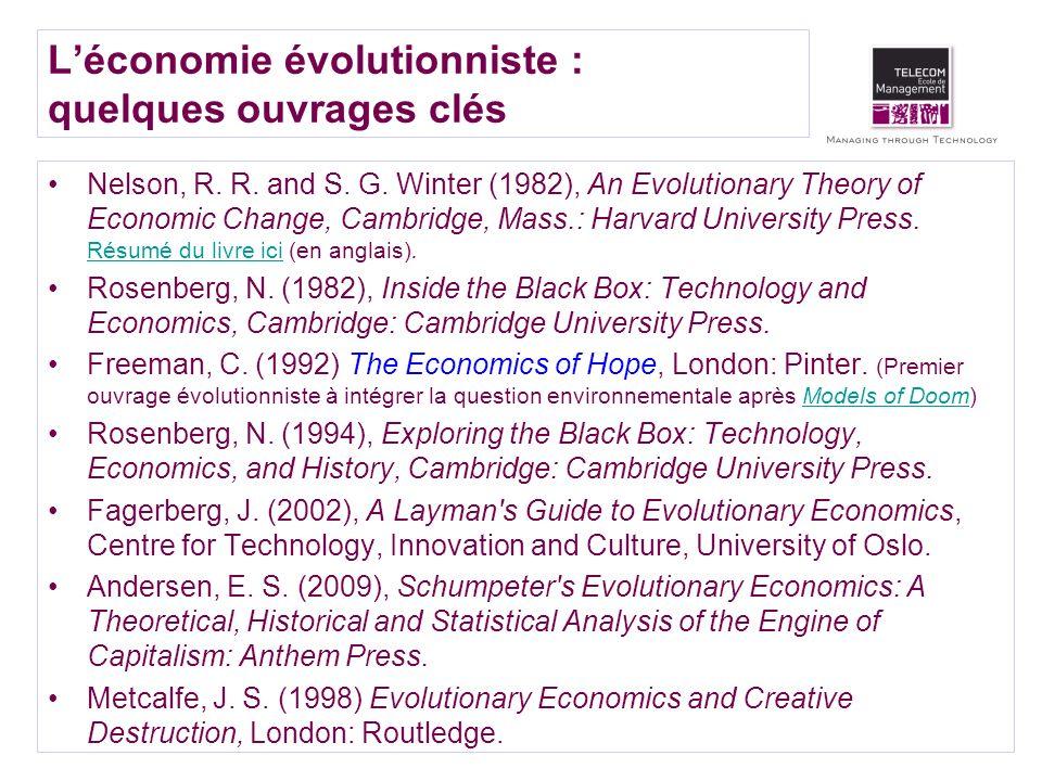 L'économie évolutionniste : quelques ouvrages clés