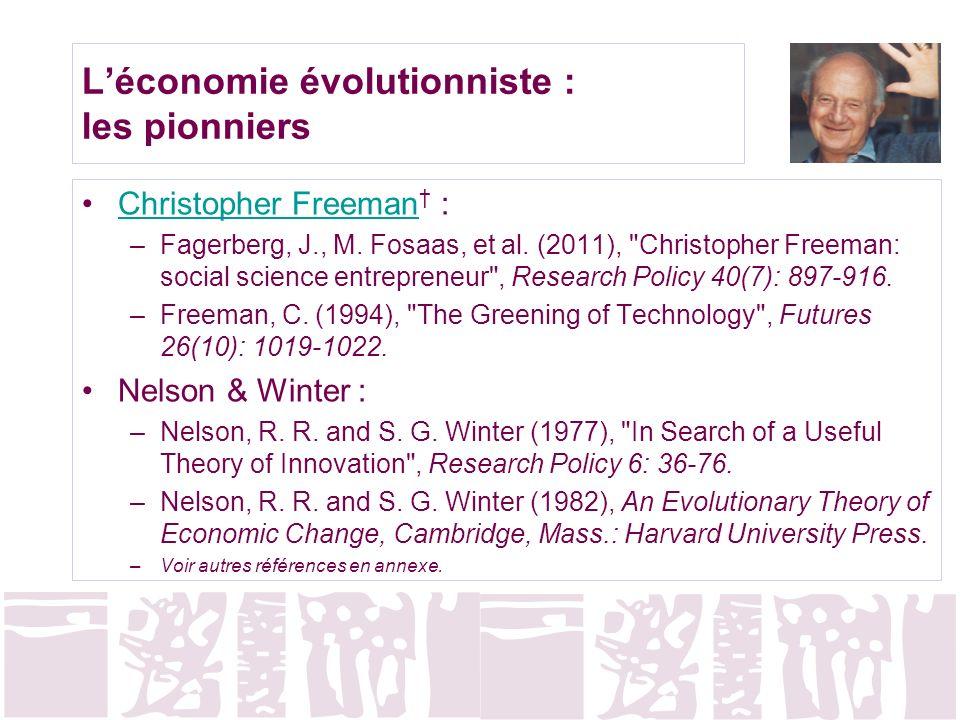 L'économie évolutionniste : les pionniers