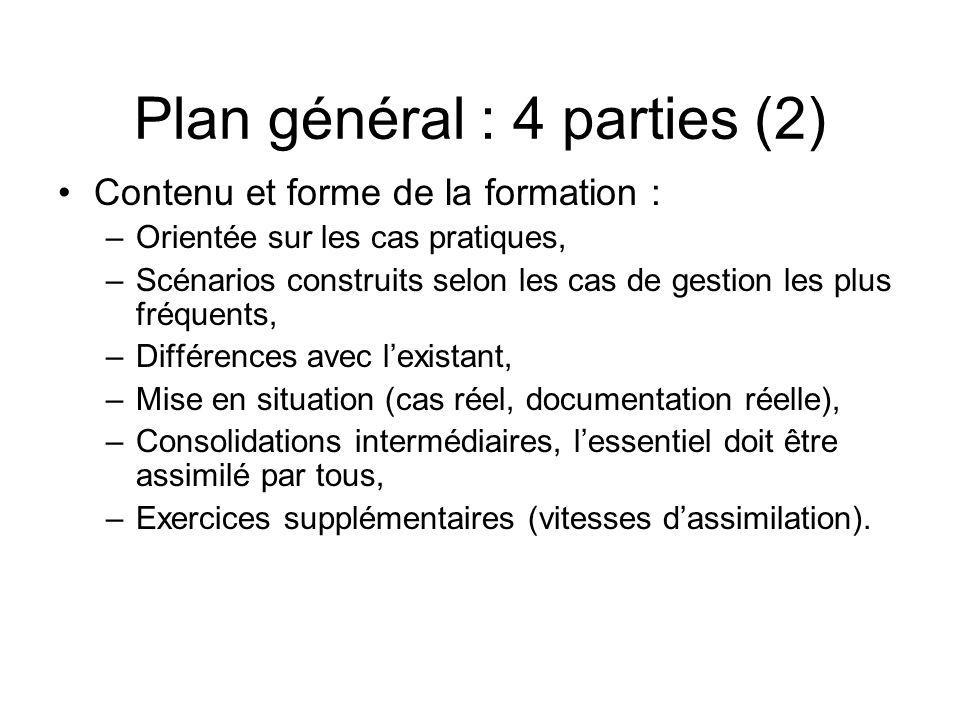 Plan général : 4 parties (2)