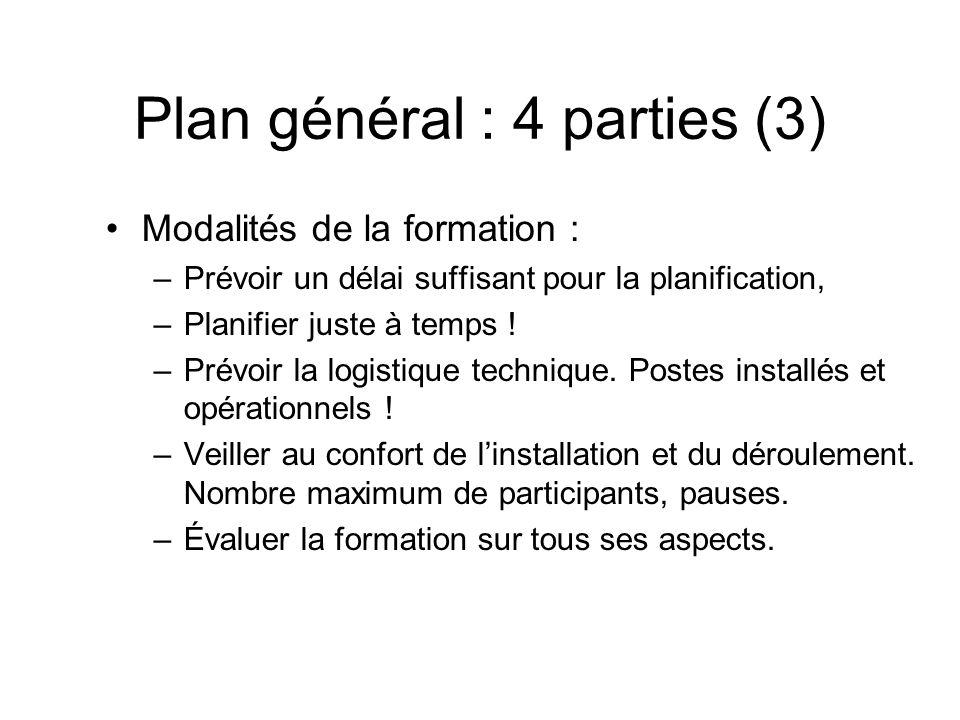 Plan général : 4 parties (3)