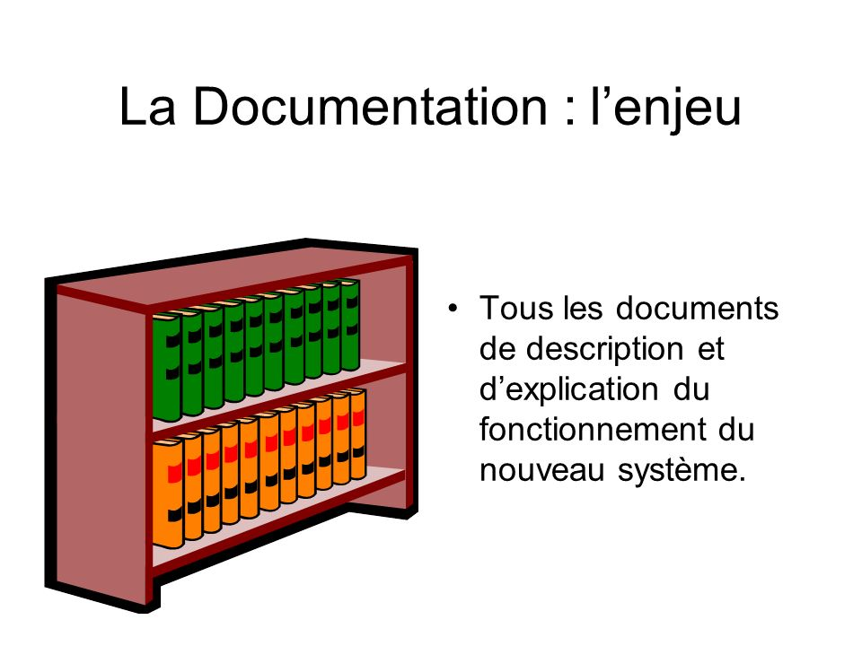 La Documentation : l'enjeu